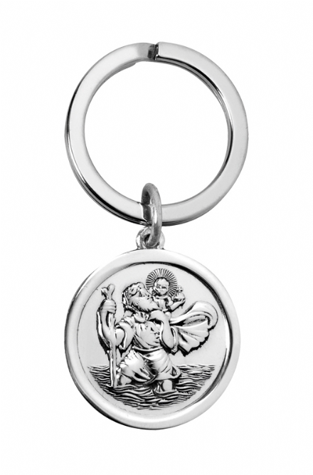 Sterling Silver St Christopher Keyring